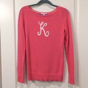 Lilly Pulitzer initial sweater